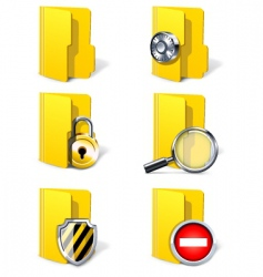 security folders vector image