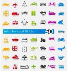 Set of transport stickers vector