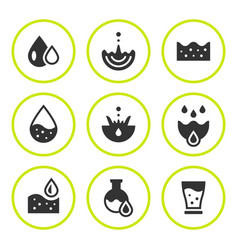 set round icons water vector image