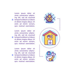 Shelter pets concept icon with text vector