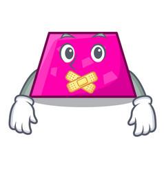 Silent trapezoid mascot cartoon style vector