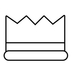 Silver crown icon outline line style vector