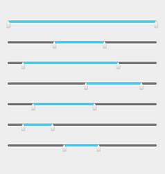 Slider bars range levels vector