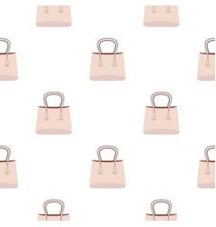 small woman bag pattern seamless vector image
