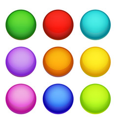 spheres collection buttons vector image