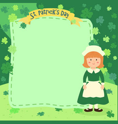 st patricks day girl notes vector image