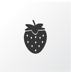 strawberries icon symbol premium quality isolated vector image