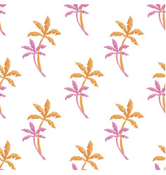 summer palm shape seamless pattern backgrounds vector image