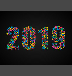 the 2019 happy new year or christmas number vector image