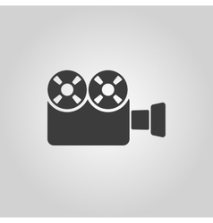 The video camera icon Camcorder symbol Flat vector image