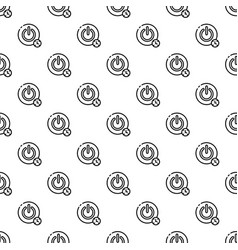 turn off timer button pattern seamless vector image