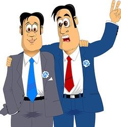Two friends groom vector