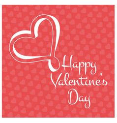 valentines day card with pattern pink background vector image