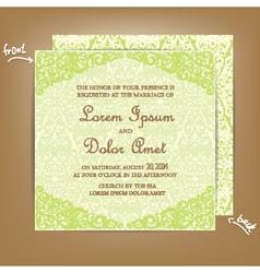 Wedding card green vector