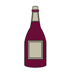 wine bottle drink vector image vector image