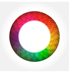 Abstract Digital Color Round Frame vector image