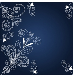 blue and white background vector image vector image
