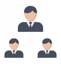 Business Hierarchy Concept vector image vector image