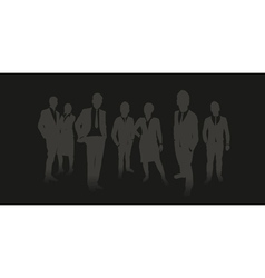 business people background vector image vector image