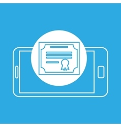 certificate mobile device education vector image
