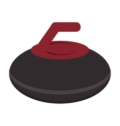 curling stone icon vector image