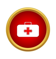 First aid case icon simple style vector image