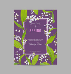 Floral spring design template wedding invitation vector