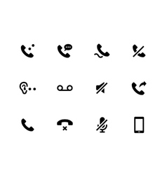 Handset icons on white background vector image vector image