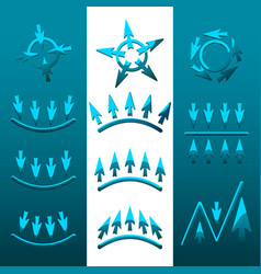 icons of arrows vector image