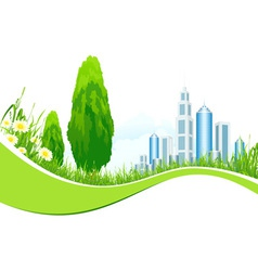 Isolated Background with City Line vector image