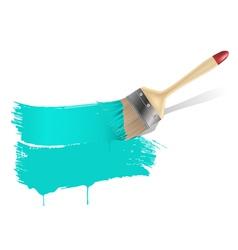 paint brush aqua background vector image