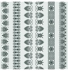 set Greek ornament Meander border vector image