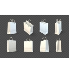 Set of paper shopping bags vector image