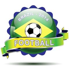 brazil icon button vector image