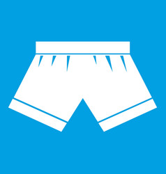 Male underwear icon white vector