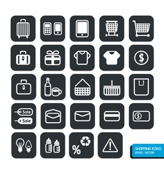 Shopping icons set design vector image vector image