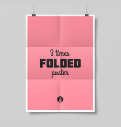 Three times folded poster vector image