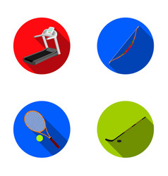 Treadmill bow for shooting ball with tennis ball vector