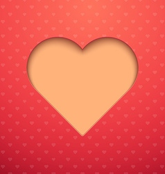 Valentine day postcard concept vector image vector image