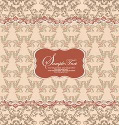 Beautiful vintage floral card vector image