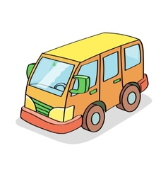 Cartoon bus colored vector