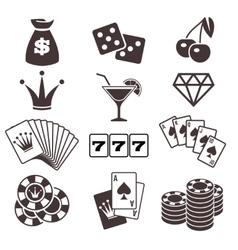 Gambling poker card game casino luck vector image vector image