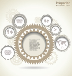 Infographic gear template design vector image vector image