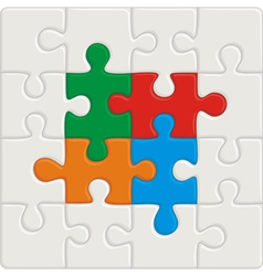 Many-colored puzzle pattern removable pieces vector