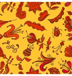 Multicolor seamless pattern Floral design vector image