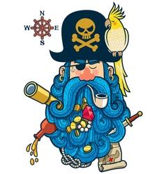 Pirate Portrait vector image