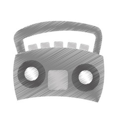 radio stereo isolated icon vector image