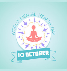 10 world mental health day vector
