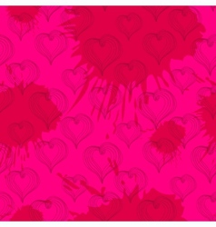 Abstract Hearts on a crimson background vector image