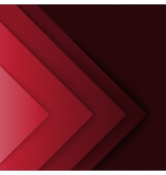 Abstract red and black triangle shapes background vector image